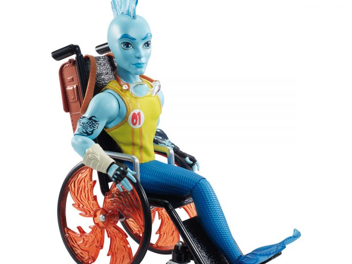 Mattel saca al mercado a Finnegan Wake, el primer personaje de Monster High con discapacidad física