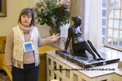 Tania en el Museo Lázaro Galdiano