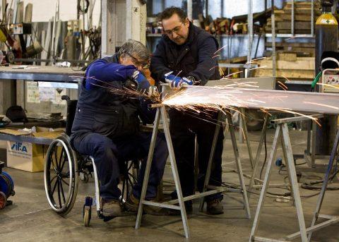 La obra social la Caixa ayuda a personas con discapacidad de Utebo