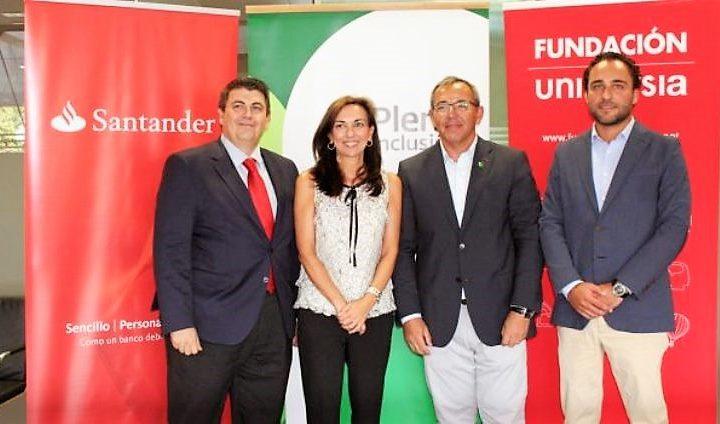 Fundación Universia y el Banco Santander apoyan el empleo público de personas con discapacidad intelectual