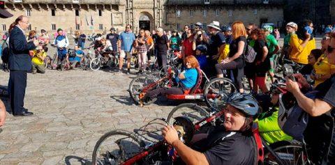 Fundación Telefónica acompaño a peregrinos con discapacidad a realizar el Camino de Santiago