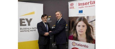 Fundación Once y EY colaboran para fomentar la inserción laboral de personas con discapacidad