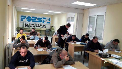 Finaliza el Curso de Conducción de Carretillas y Plataformas Elevadoras organizado por ASOVICA