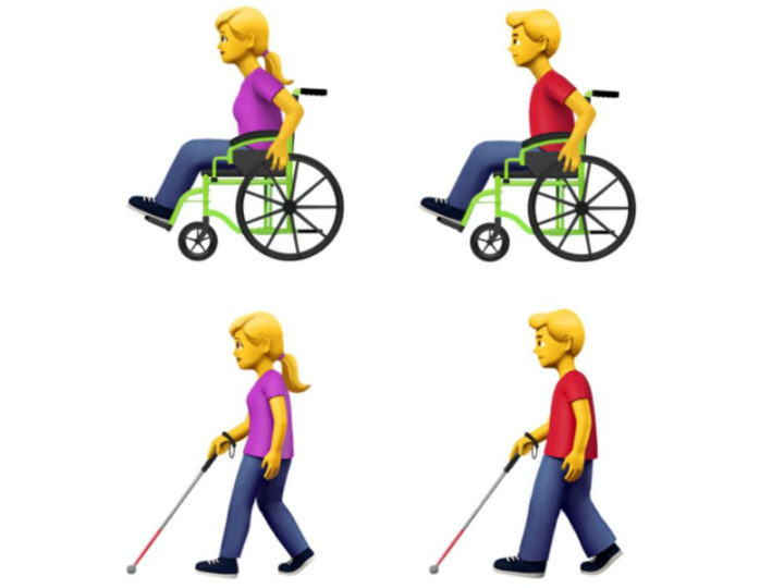 Apple diseña nuevos emojis  para representar a las personas con discapacidad