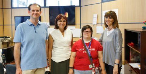 Alumna de la Fundación Síndrome de Down realiza prácticas en la UJI