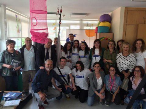 Carrefour financia equipamiento a favor de la infancia con parálisis cerebral de Apamp.