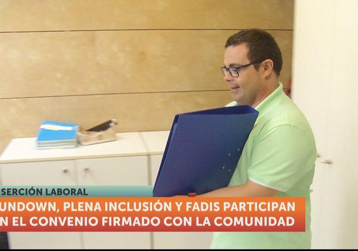Personas con discapacidad intelectual realizarán prácticas formativas en la Administración regional murciana