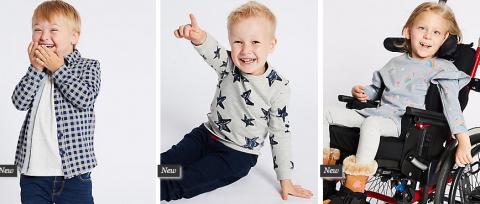 La marca Marks & Spencer lanza una colección de ropa adaptada para niños con discapacidad