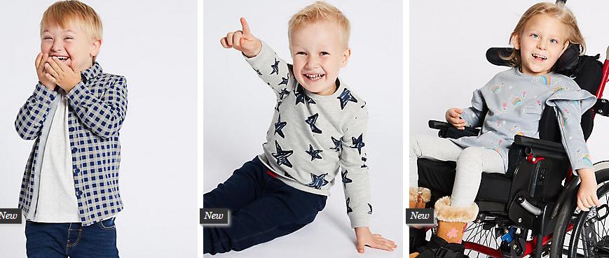 510163a79 La marca Marks   Spencer lanza una colección de ropa adaptada para niños  con discapacidad