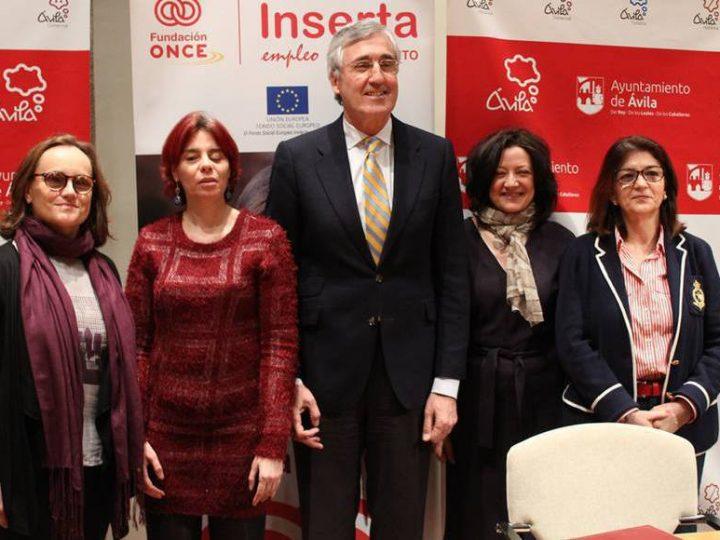 Ayuntamiento de Ávila y Once renuevan convenio por la inserción laboral