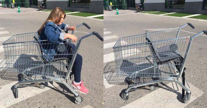 Mercadona y sus carros para niños con movilidad reducida