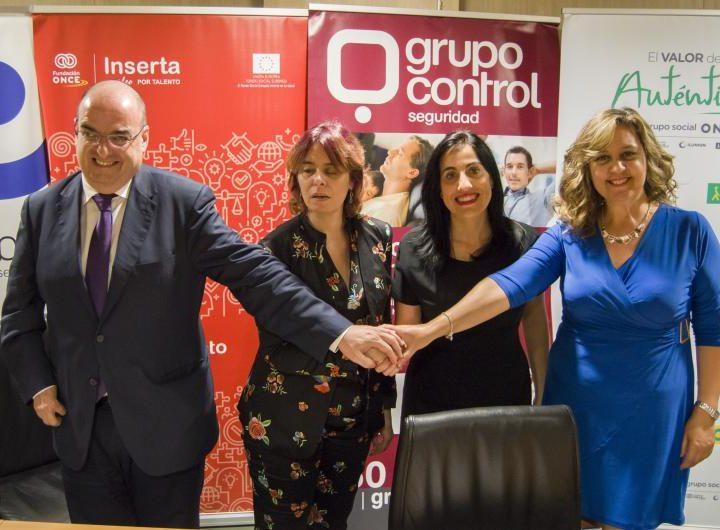 Fundación ONCE y Grupo Control se comprometen con la inclusión laboral de personas con discapacidad
