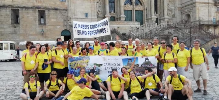 Voluntarios OHL y Down Madrid hacen el Camino de Santiago