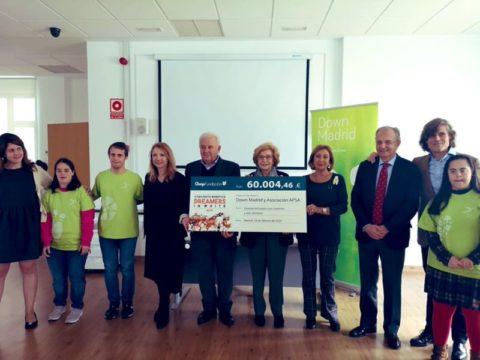 Fundación Gmp entrega el total de la recaudación del Concierto Dreamers In White a DOWN MADRID y APSA