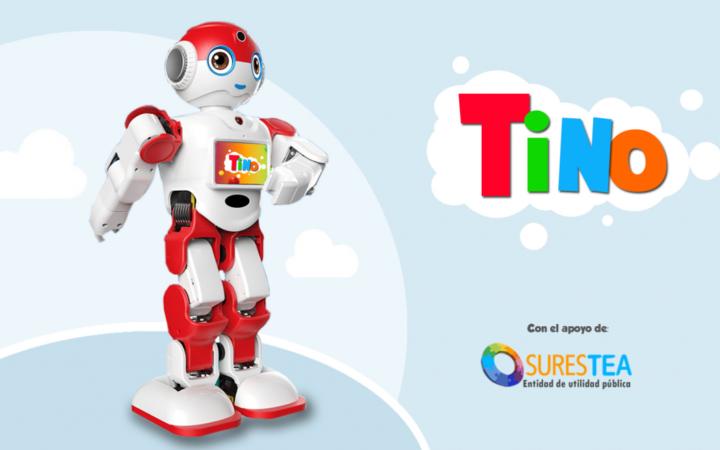 Tino, el Robot educativo de Espabot para niños con TEA