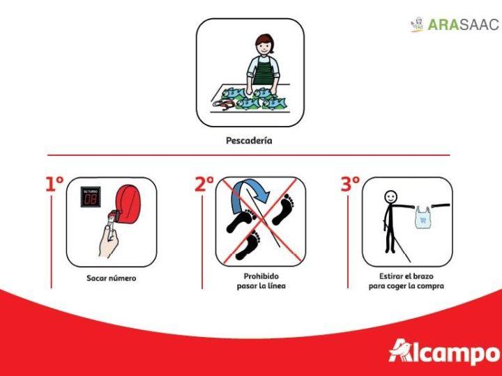 Alcampo incluye pictogramas en sus tiendas para informar de las medidas excepcionales tomadas