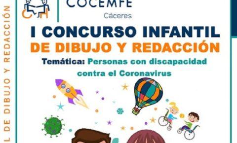 Cocemfe Cáceres abre plazo de presentación para I Concurso Infantil de Dibujo y Redacción