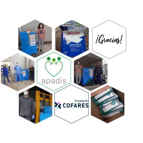 La Fundación Cofares dona productos de parafarmacia a las residencias de APADIS