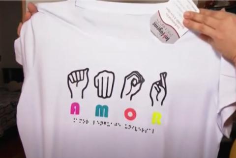 Viviana Zapata diseña ropa incluyente para su hijo y otras personas con discapacidad visual