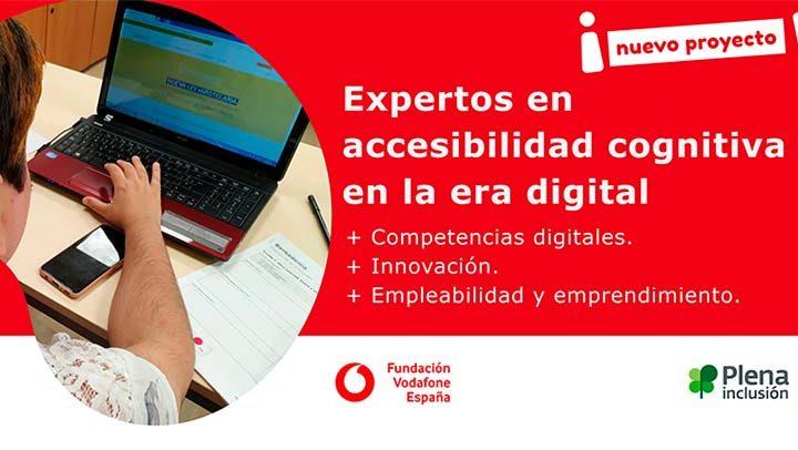Colaboración entre Plena inclusión y Fundación Vodafone para lanzar el proyecto 'Líderes digitales'