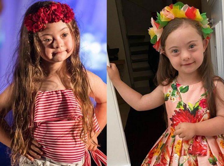 Francesca Rausi, la pequeña gran modelo con síndrome de Down