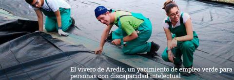 Bankia apoya el vivero de Aredis para personas con discapacidad intelectual