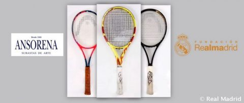 Subasta solidaria Ansonera: ya puedes pujar por las raquetas de Nadal, Djokovic y McEnroe