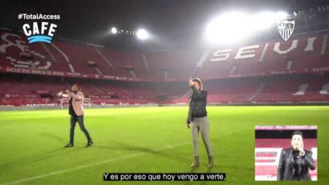 El Arrebato estrena una nueva versión del himno del Sevilla en Lengua de Signos